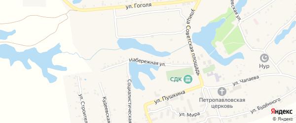 Набережная улица на карте села Кудеевского с номерами домов