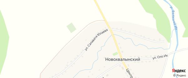 Улица Салавата Юлаева на карте Новохвалынского хутора с номерами домов