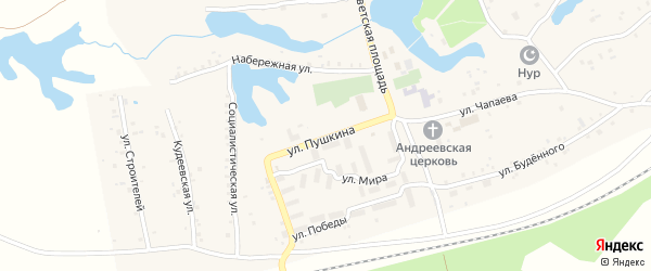Улица Пушкина на карте села Кудеевского с номерами домов