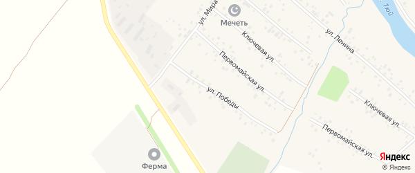 Улица Победы на карте села Кубиязы с номерами домов