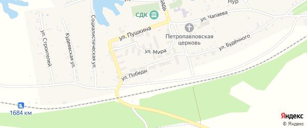 Улица Победы на карте села Кудеевского с номерами домов