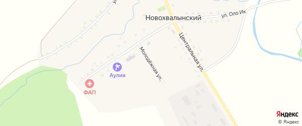 Молодежная улица на карте Новохвалынского хутора с номерами домов
