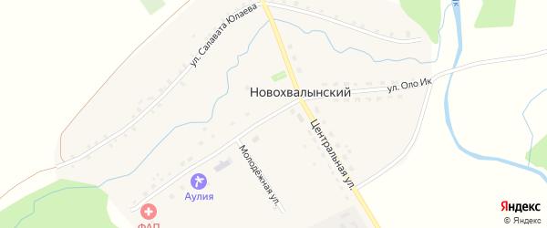 Улица Оло Ик на карте Новохвалынского хутора с номерами домов