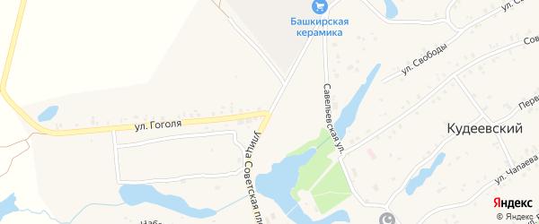 Улица Советская Площадь на карте села Кудеевского с номерами домов