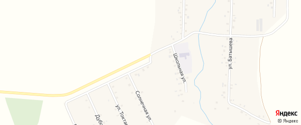 Школьная улица на карте деревни Большие Шиды с номерами домов