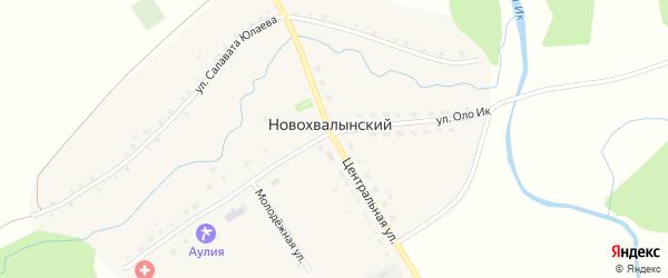 Центральная улица на карте Новохвалынского хутора с номерами домов