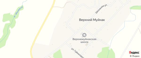 Улица Специалистов на карте деревни Верхнего Муйнака с номерами домов