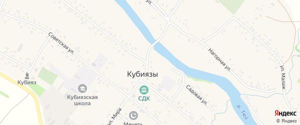 Улица Мира на карте села Кубиязы с номерами домов