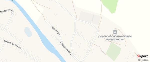 Горная улица на карте села Кубиязы с номерами домов