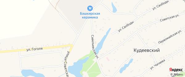 Савельевская улица на карте села Кудеевского с номерами домов