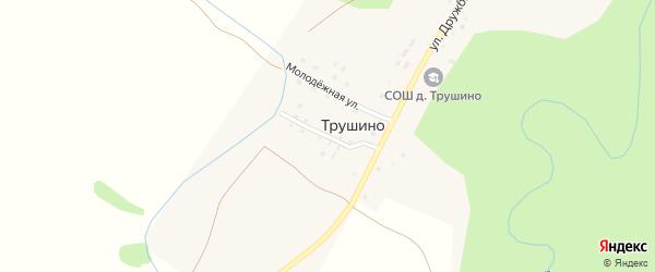 Улица Дружбы на карте деревни Трушино с номерами домов