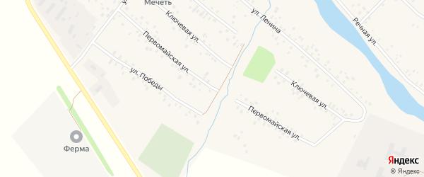 Первомайская улица на карте села Кубиязы с номерами домов