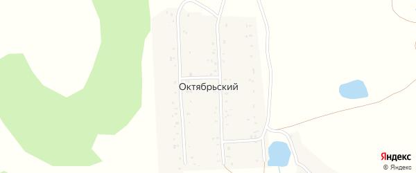 Центральная улица на карте деревни Октябрьского с номерами домов