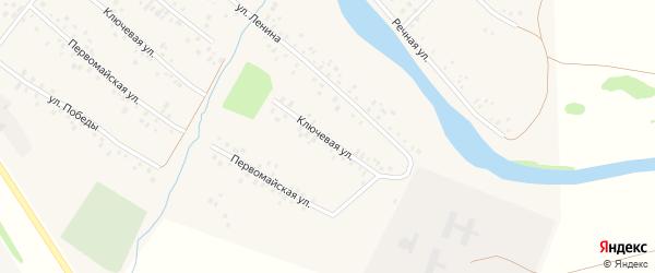 Ключевая улица на карте села Кубиязы с номерами домов