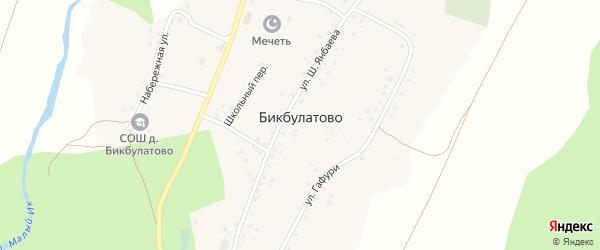 Улица Худайбердина на карте деревни Бикбулатово с номерами домов