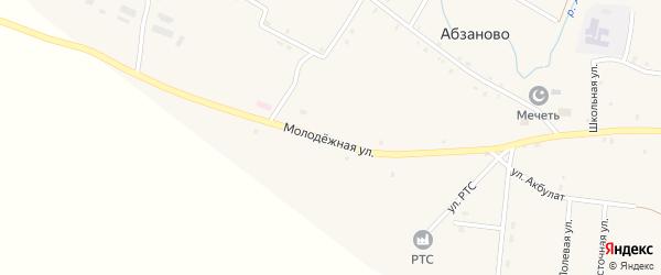 Молодежная улица на карте села Абзаново с номерами домов