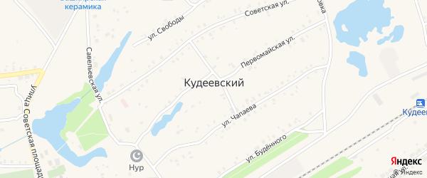Переулок Буденного на карте села Кудеевского с номерами домов