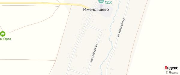 Улица Новоселка на карте села Имендяшево с номерами домов