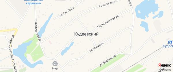 Переулок Чапаева на карте села Кудеевского с номерами домов