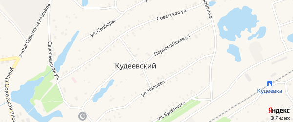 Первомайская улица на карте села Кудеевского с номерами домов