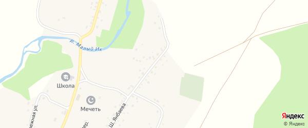 Улица Шакира Янбаева на карте деревни Бикбулатово с номерами домов