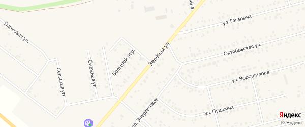 Зеленая улица на карте Архангельского села с номерами домов