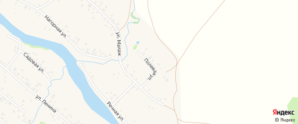 Полевая улица на карте села Кубиязы с номерами домов