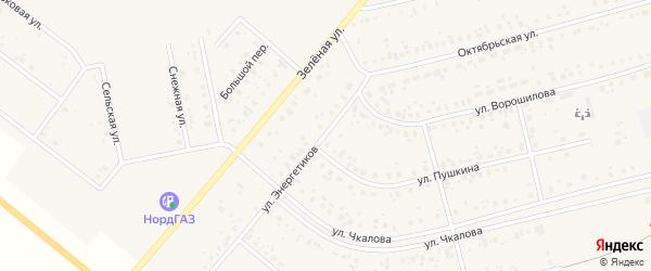 Улица Энергетиков на карте Архангельского села с номерами домов