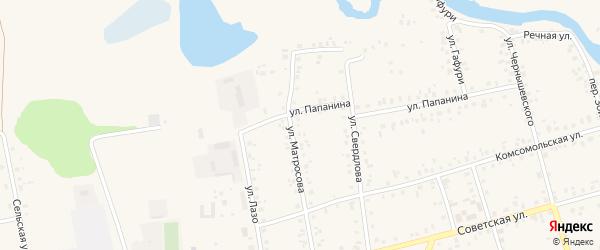 Улица Матросова на карте Архангельского села с номерами домов