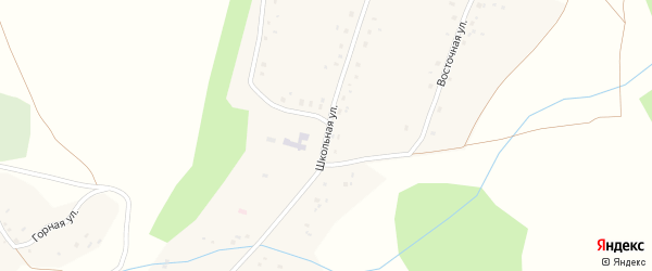 Школьная улица на карте села Коварды с номерами домов