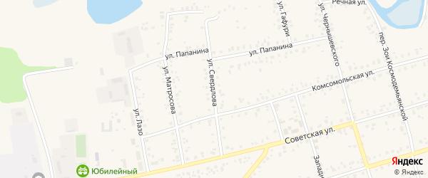 Улица Свердлова на карте Архангельского села с номерами домов