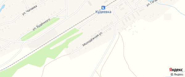 Молодежная улица на карте села Кудеевского с номерами домов