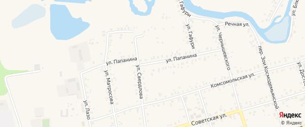 Улица Папанина на карте Архангельского села с номерами домов