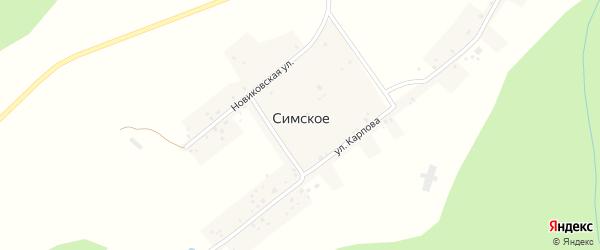 Улица Карпова на карте Симского села с номерами домов