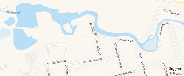Улица Гафури на карте Архангельского села с номерами домов