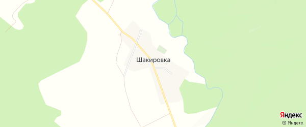 Карта деревни Шакировки в Башкортостане с улицами и номерами домов
