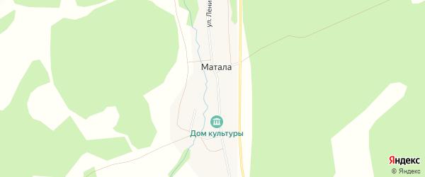 Карта деревни Маталы в Башкортостане с улицами и номерами домов