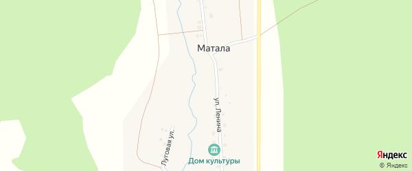 Луговая улица на карте деревни Маталы с номерами домов