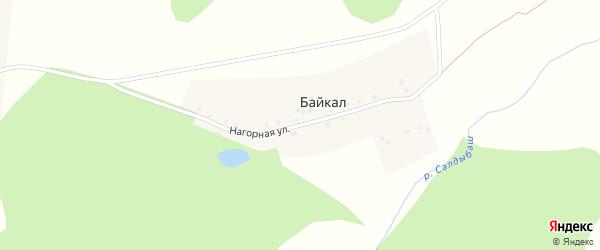 Нагорная улица на карте деревни Байкала с номерами домов
