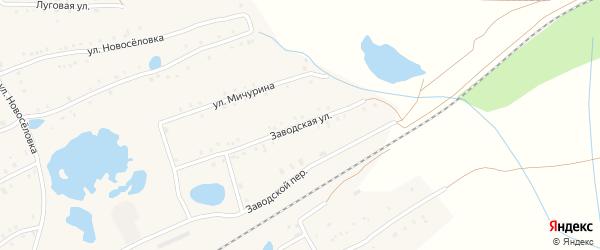 Заводская улица на карте села Кудеевского с номерами домов
