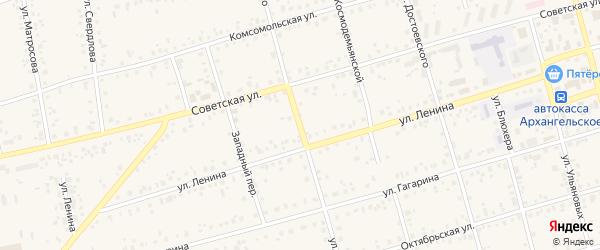 Улица Чернышевского на карте Архангельского села с номерами домов