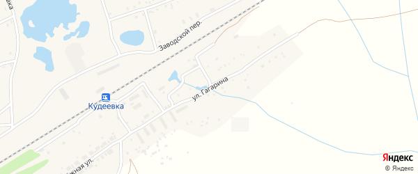 Улица Гагарина на карте села Кудеевского с номерами домов