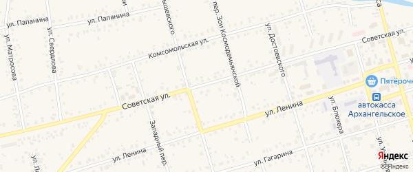 Советская улица на карте Архангельского села с номерами домов