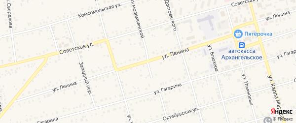Улица Ленина на карте Архангельского села с номерами домов