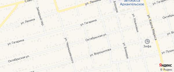З.Космодемьянской переулок на карте Архангельского села с номерами домов