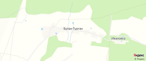 Карта деревни Булана-Тургана в Башкортостане с улицами и номерами домов