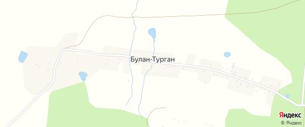 Дачная улица на карте деревни Булана-Тургана с номерами домов