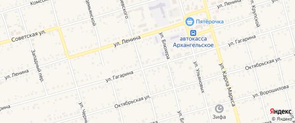 Улица Маршала Пстыго на карте Архангельского села с номерами домов