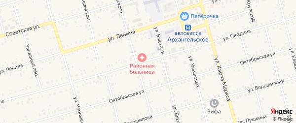 Улица Гагарина на карте Архангельского села с номерами домов