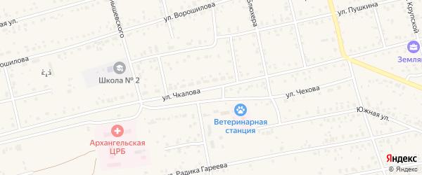 Улица Чкалова на карте Архангельского села с номерами домов
